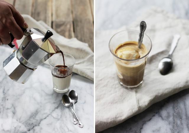 Affogato kava